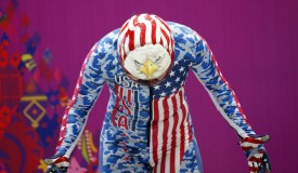 Katie Uhlaender of the U.S. gets ready