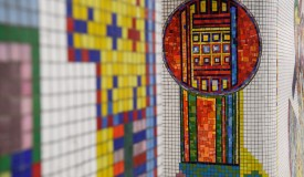Restored Paolozzi Mosaics Back On Show To The Public At London Tube Station