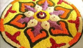 Simple Rangoli Festival Rangoli Flower| Pictures Of Indoor Floor Decor Art In India