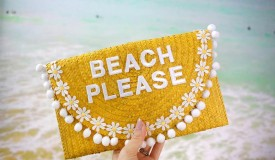 Try This: Turn a Simple Straw Clutch into the Perfect Vacation Bag!