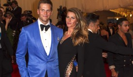 Model Gisele Bundchen with quarterback Tom Brady