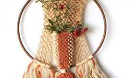 A Macramé wall hanging for sale on Etsy