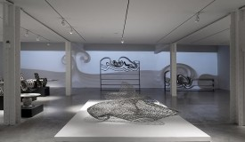 Dragon Bench: a furniture piece made from 3D-printed metal by Joris Laarman now on exhibit at the Friedman Benda Gallery