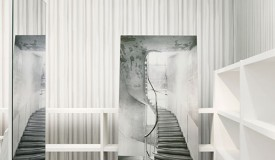 Le Rideau which incorporates a trompe l'oeil technique is one of Maison Martin Margiela's wallcovering design for Omexco