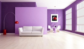Radiant Orchid in Interior Design
