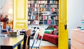 Yellow French doors
